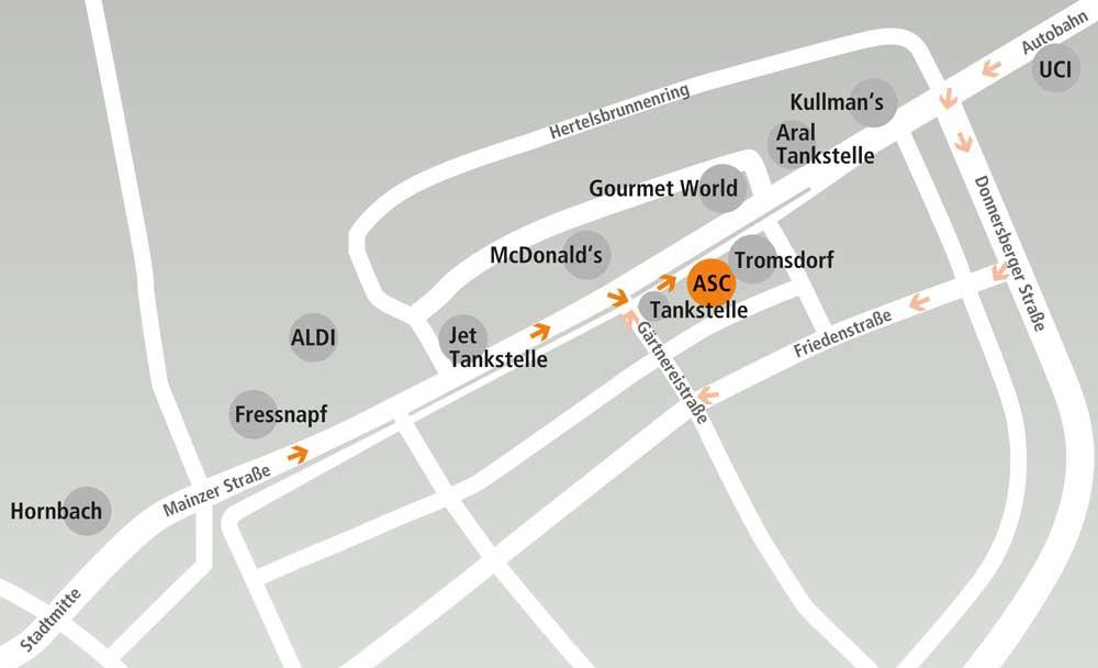Anfahrt ASC Kaiserslautern